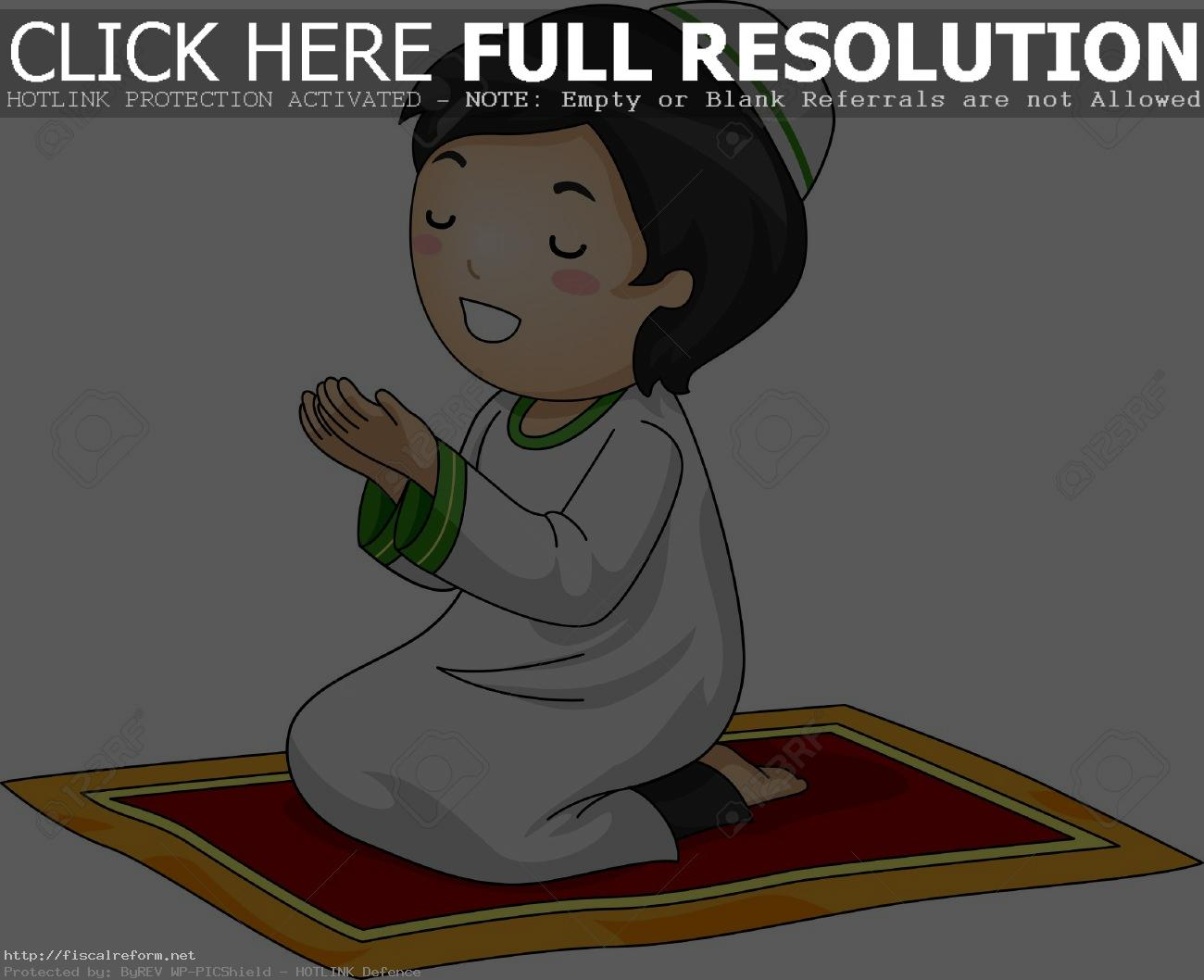 Muslim Boy Praying Png - ... Illustration Of A Little Muslim Boy Kneeling In Prayer Stock Photo  Throughout Praying ...