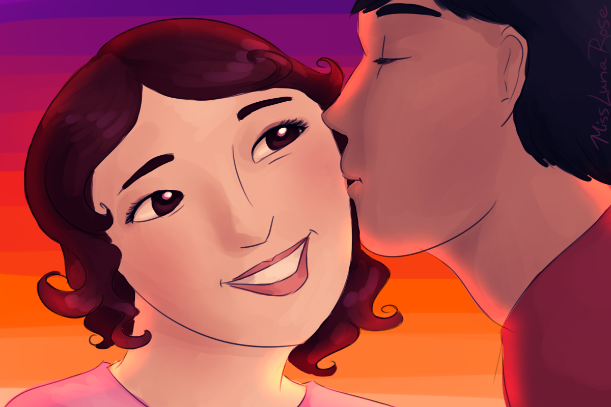Kiss On The Cheek Png -