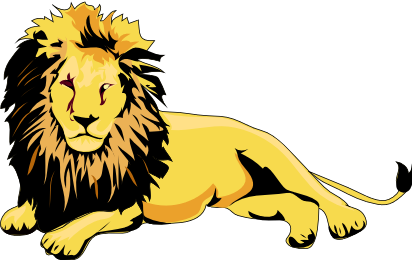 Lion Laying Down Png -