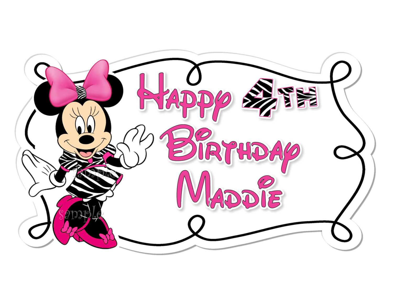 Minnie Mouse Zebra Png -