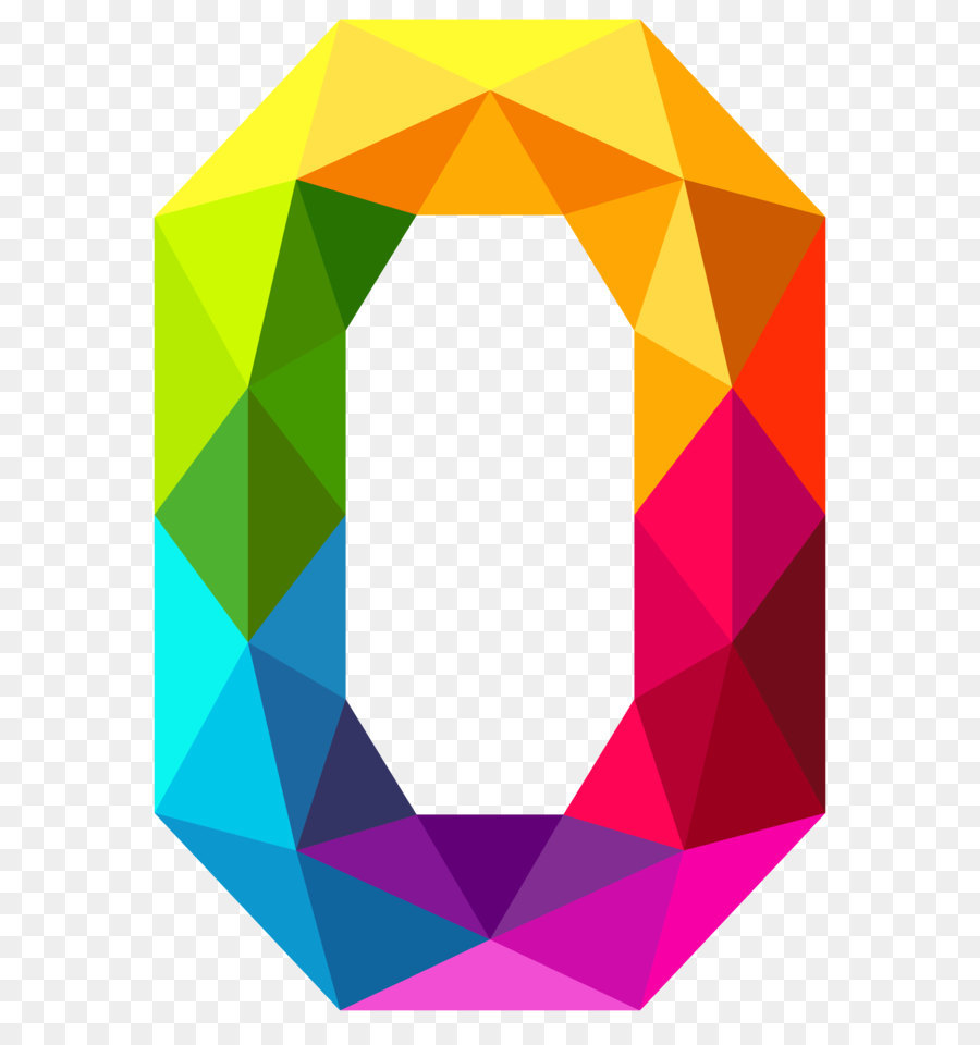0 Number Clip Art - Colourful Triangles #508210 - PNG Images - PNGio