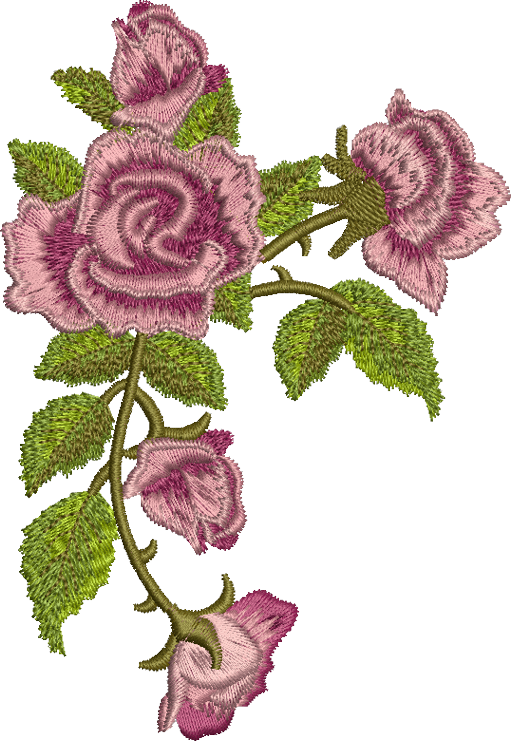 Embroidery Png - 01 - Clasic Rose Garland