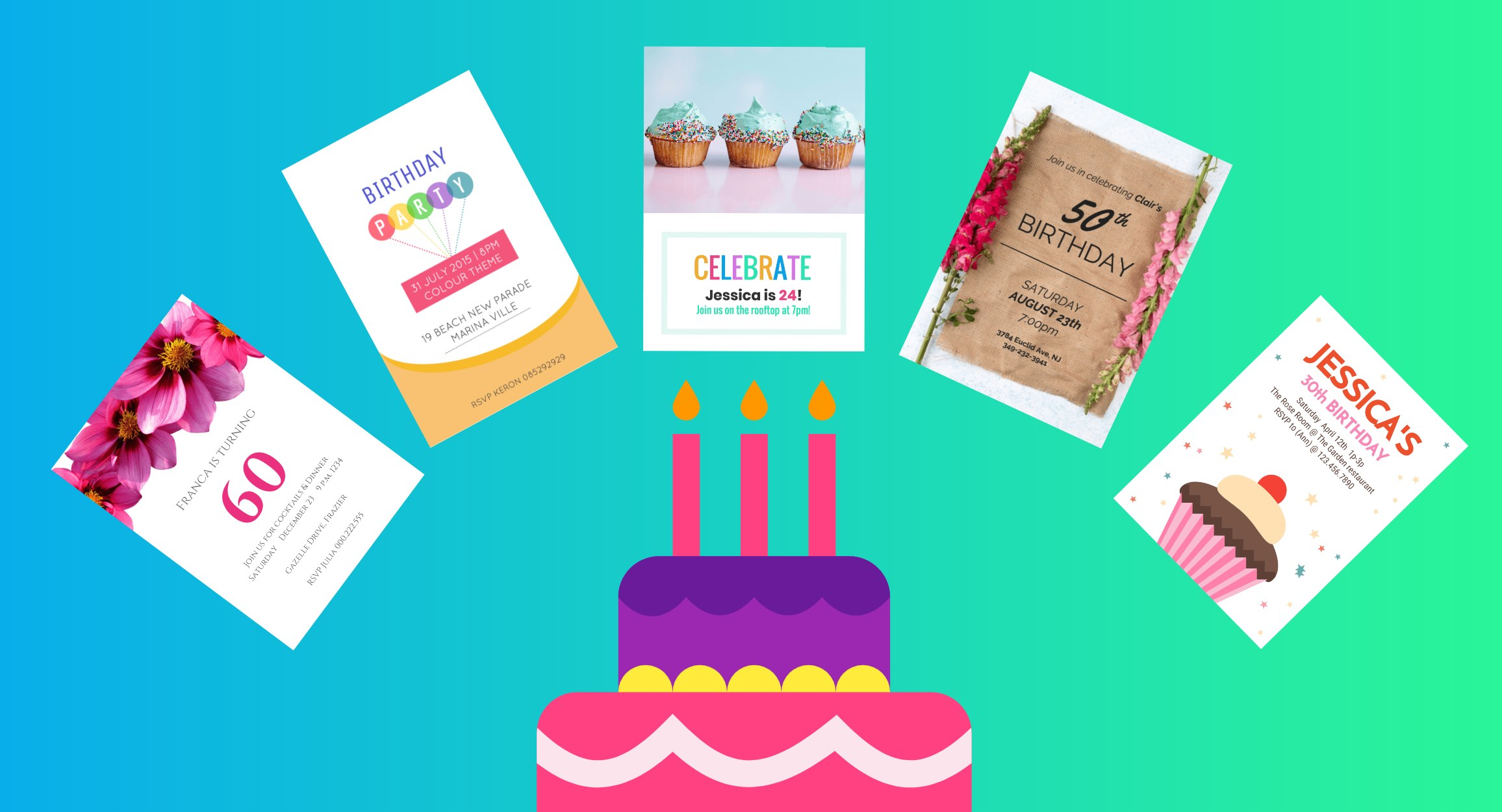 August Birthday Borders Png - 10 Creative Birthday Invitation Card Design Tips [+Templates ...