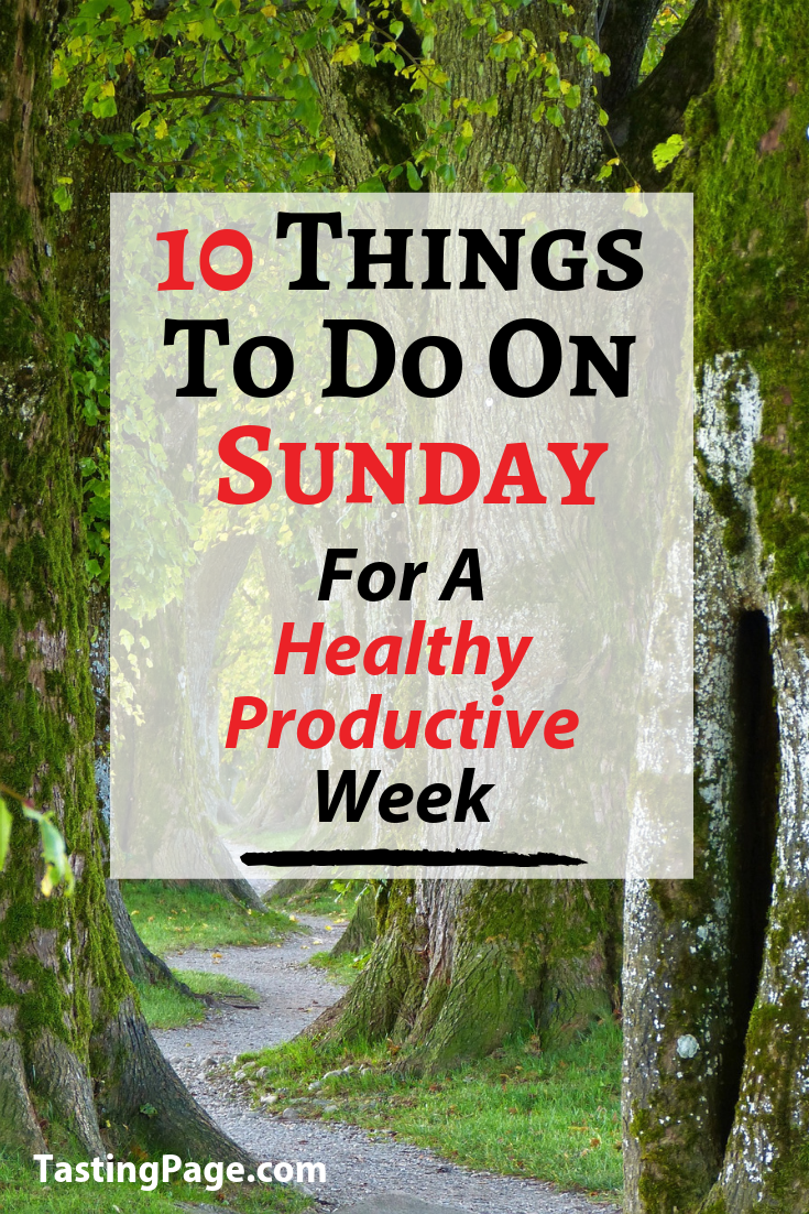Have A Productive Week Png - 10 Things to Do on Sunday for a Healthy Productive Week — Tasting Page