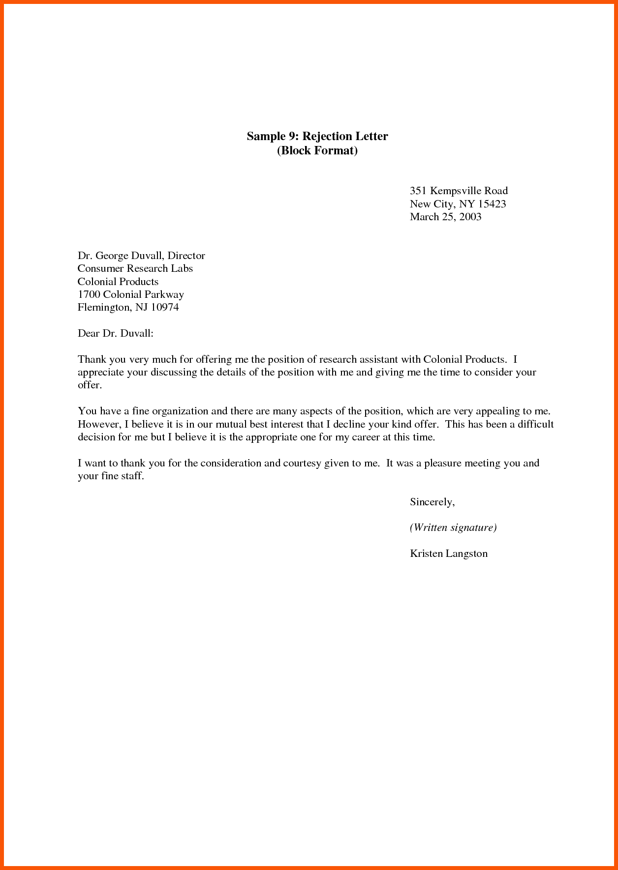Letter Of Declining Job Offer from img.pngio.com