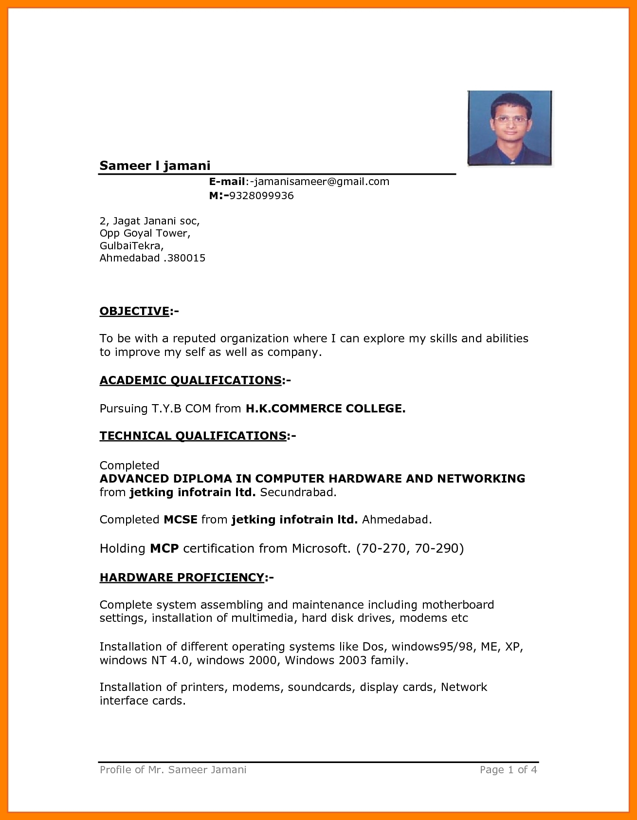 11 Free Simple Resume Format Download 1883523 Png Images Pngio