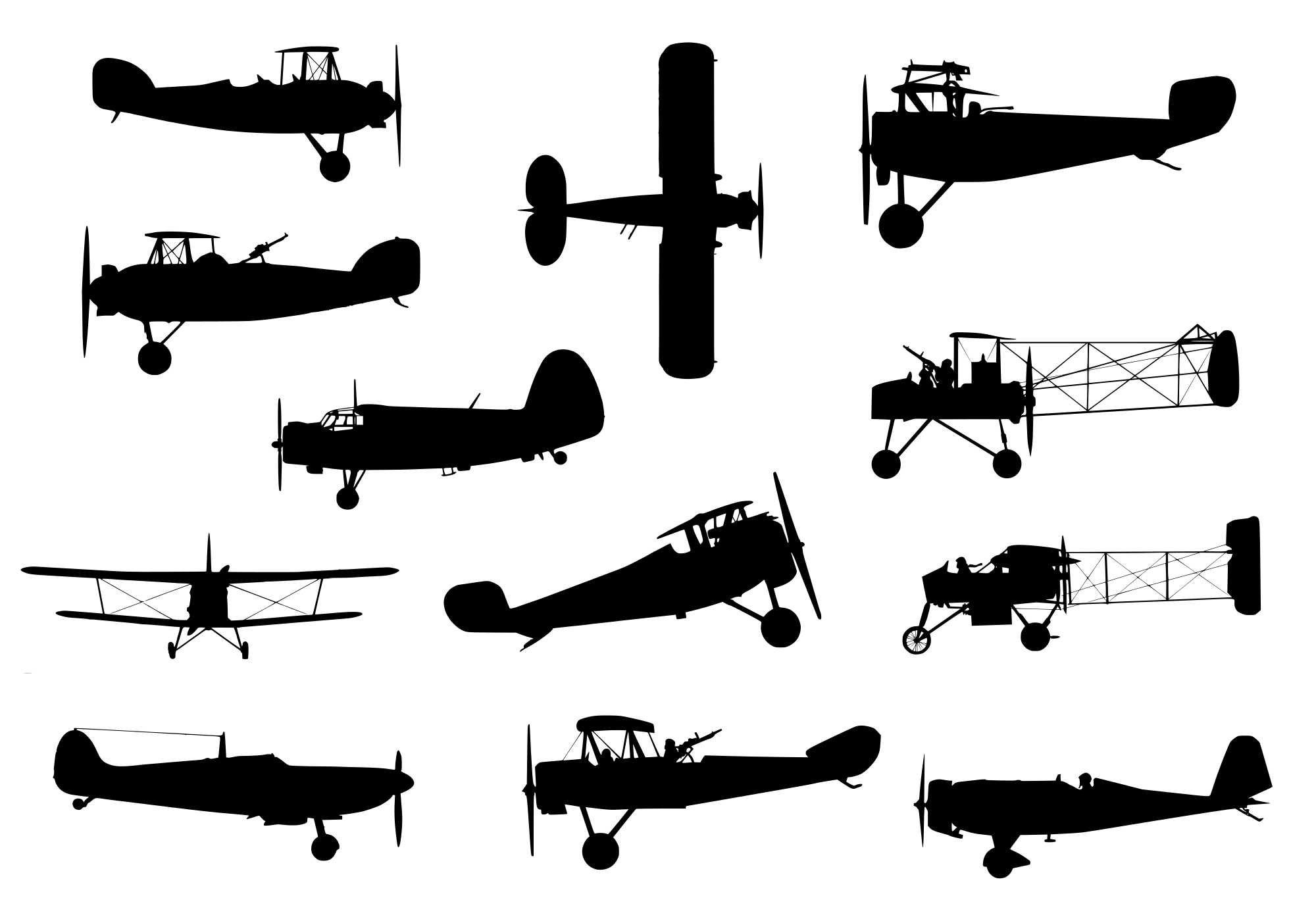 Airplane Silhouette Free Airplane Silhouette Png Transparent