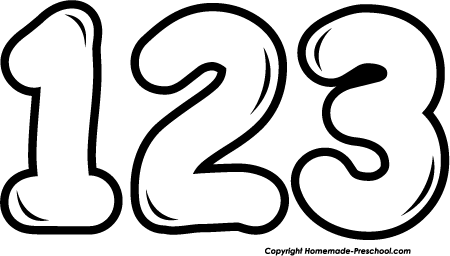 123 Png Black And White Amp Free 123 Black And White Png