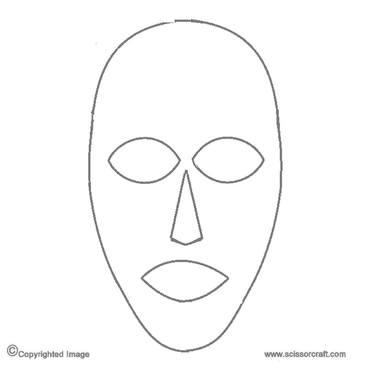 Full Face Mask Template Png & Free Full Face Mask Template ...