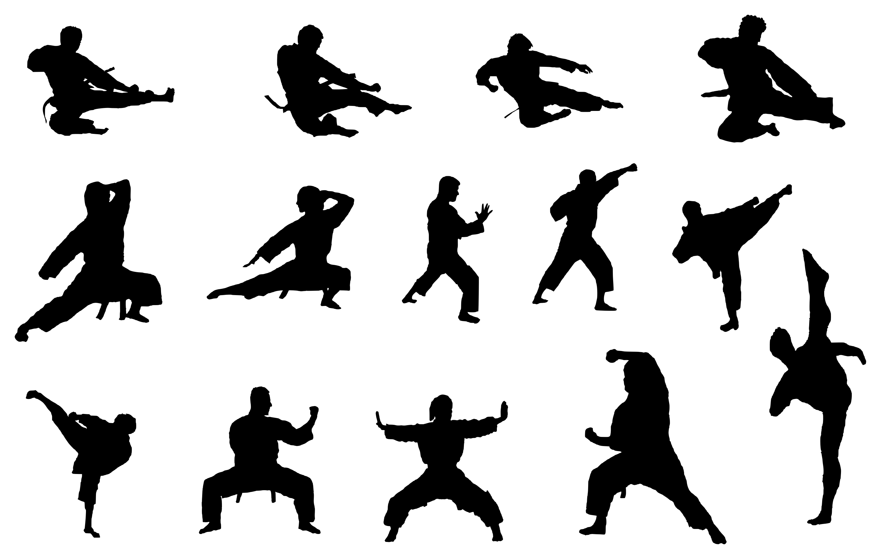 Png Karate - 14 Karate Silhouette (PNG Transparent) | OnlyGFX.com