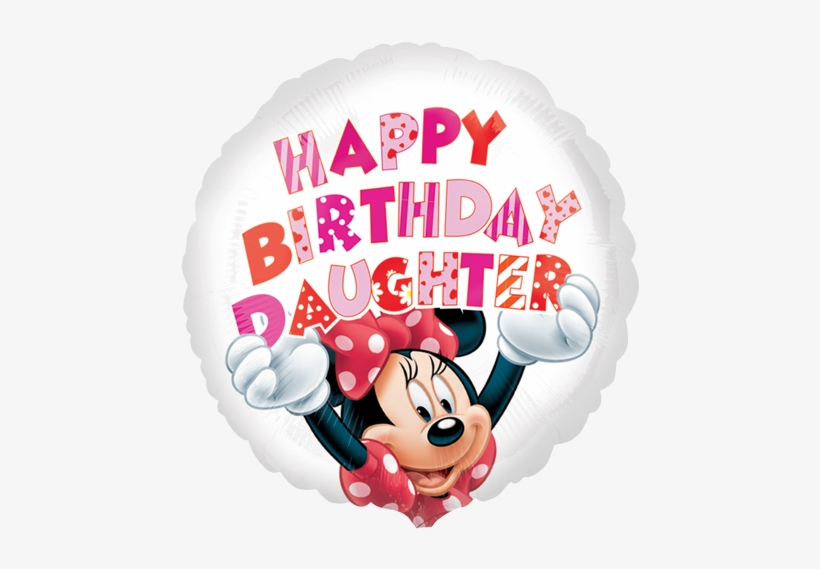 """Happy Birthday Daughter Png - 18"""" Minnie Mouse Happy Birthday Daughter Foil Balloon - Disney ..."""