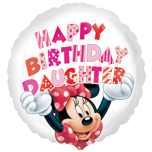 Happy Birthday Daughter Png - 18 Minnie Mouse Happy Birthday Daughter Foil Balloon