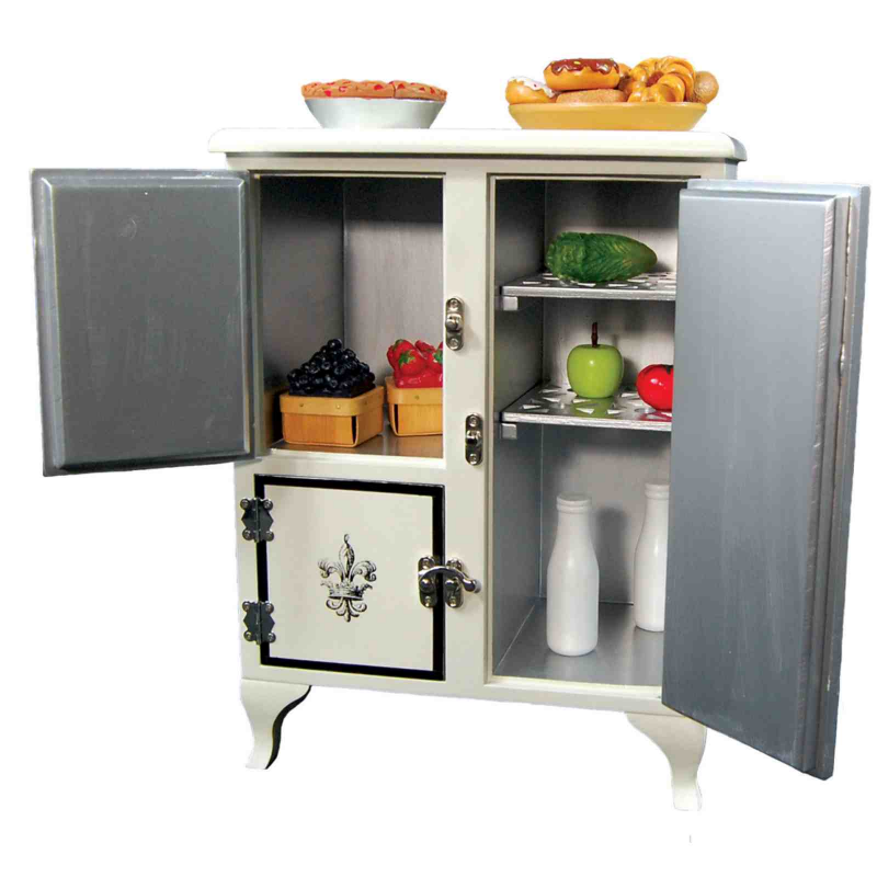 American Girl Doll Furniture Png - 1930's American Style Ice Box, Furniture for 18 Inch Girl Dolls