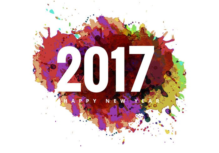 2017 New Year Png - 2017 Happy New Year colorful card #28831 - Free Icons and PNG ...