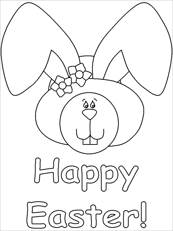 This is a picture of Free Printable Easter Bunny Coloring Pages regarding simple