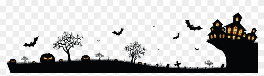 Halloween Picture Backgrounds Png - 2272 X 554 58 - Happy Halloween Background Png, Transparent Png ...