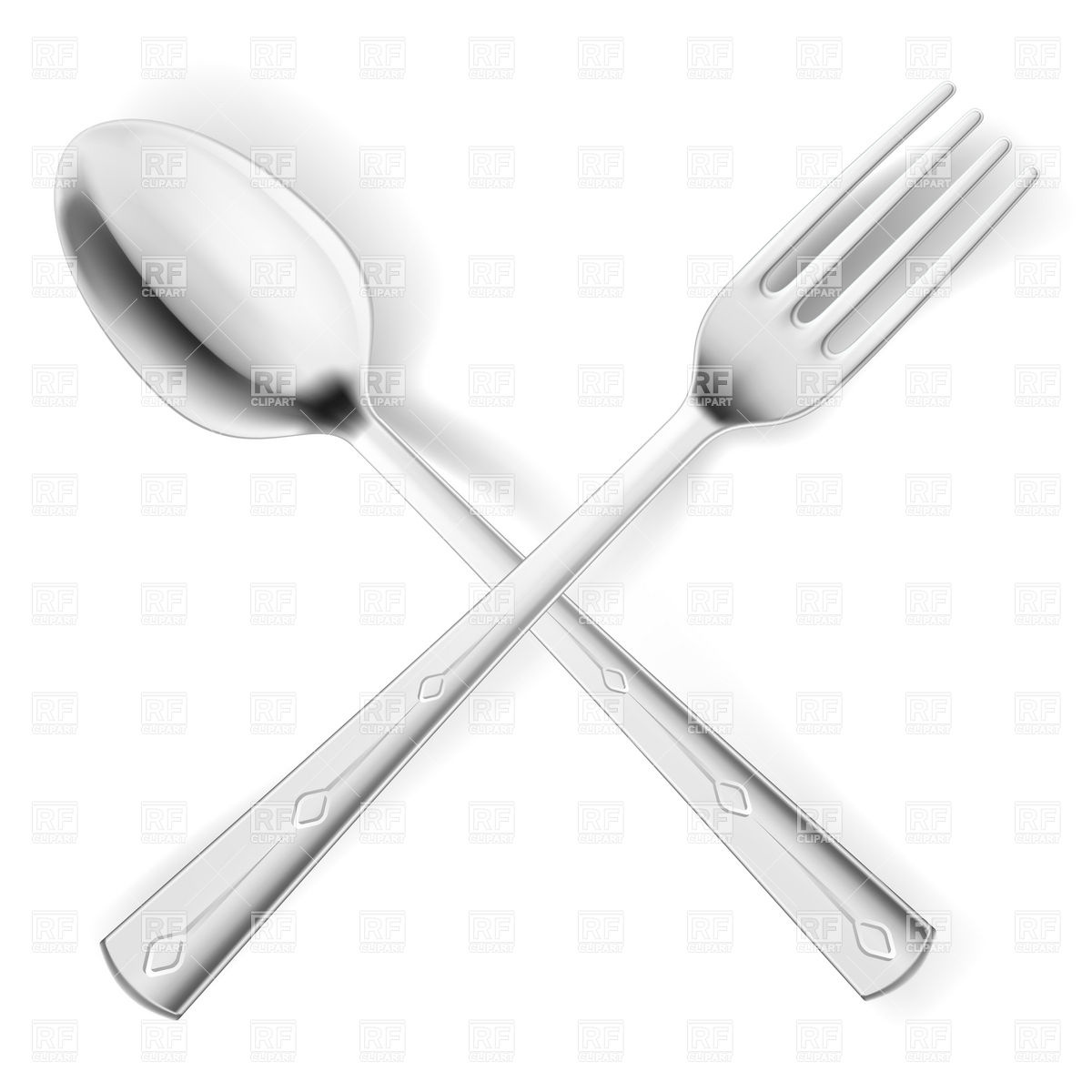 Crossed Fork And Spoon Png - 2428 Fork Free Clipart - 2 #1565616 - PNG Images - PNGio