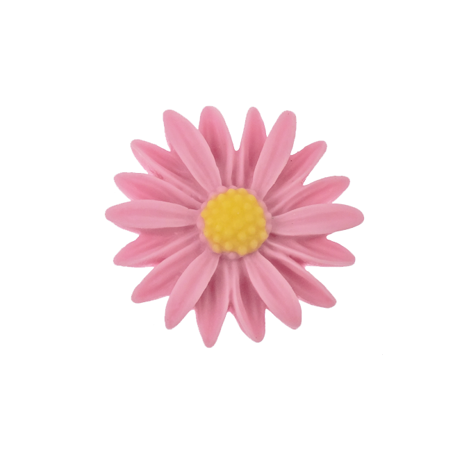 Pink Sunflowers Png - 26mm Resin Flat Back Sunflower - Pink - The Bead Shop