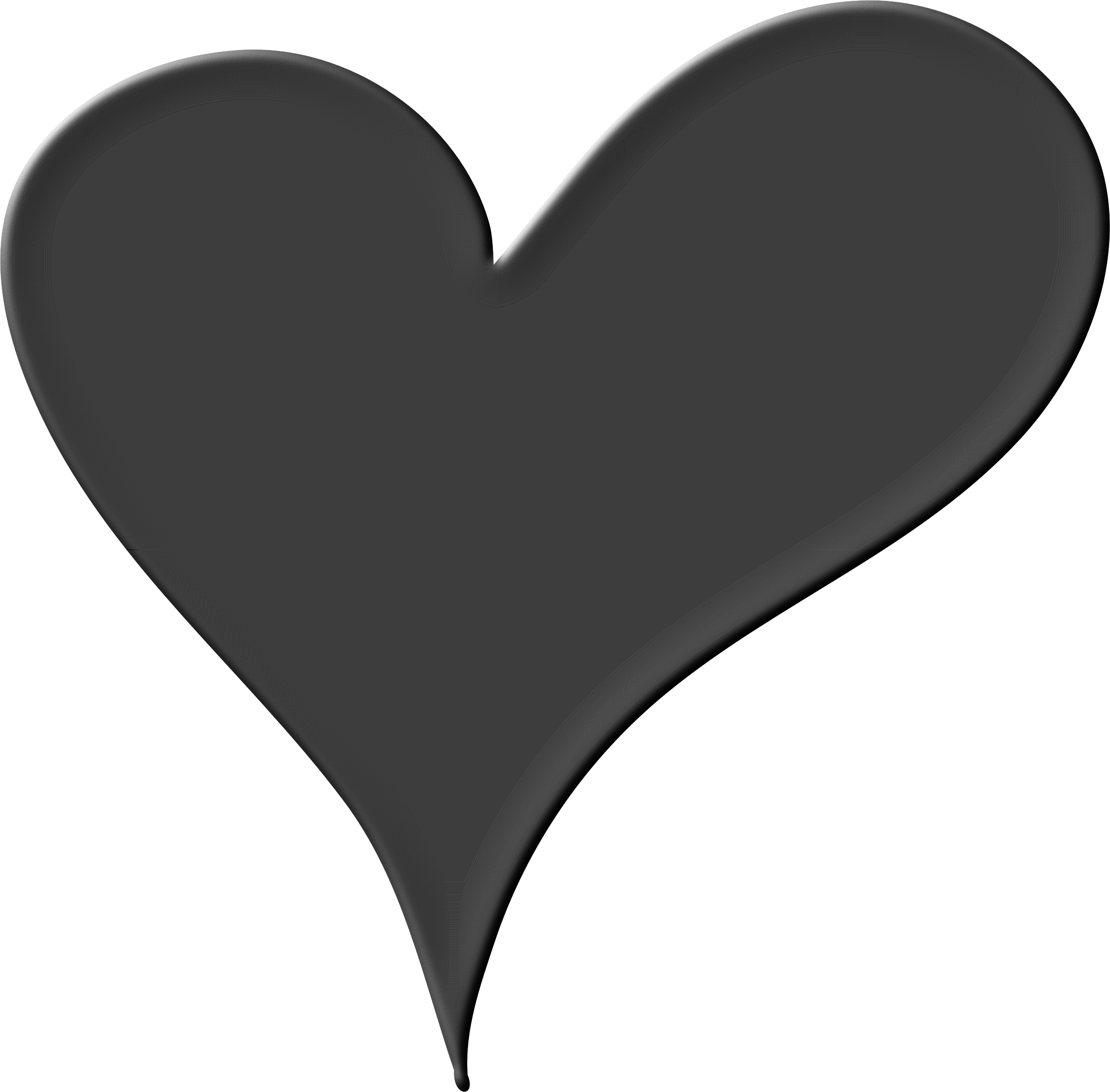 Heartbeat Png Transparent Black: Heart Png Black And White & Free Heart Black And White.png
