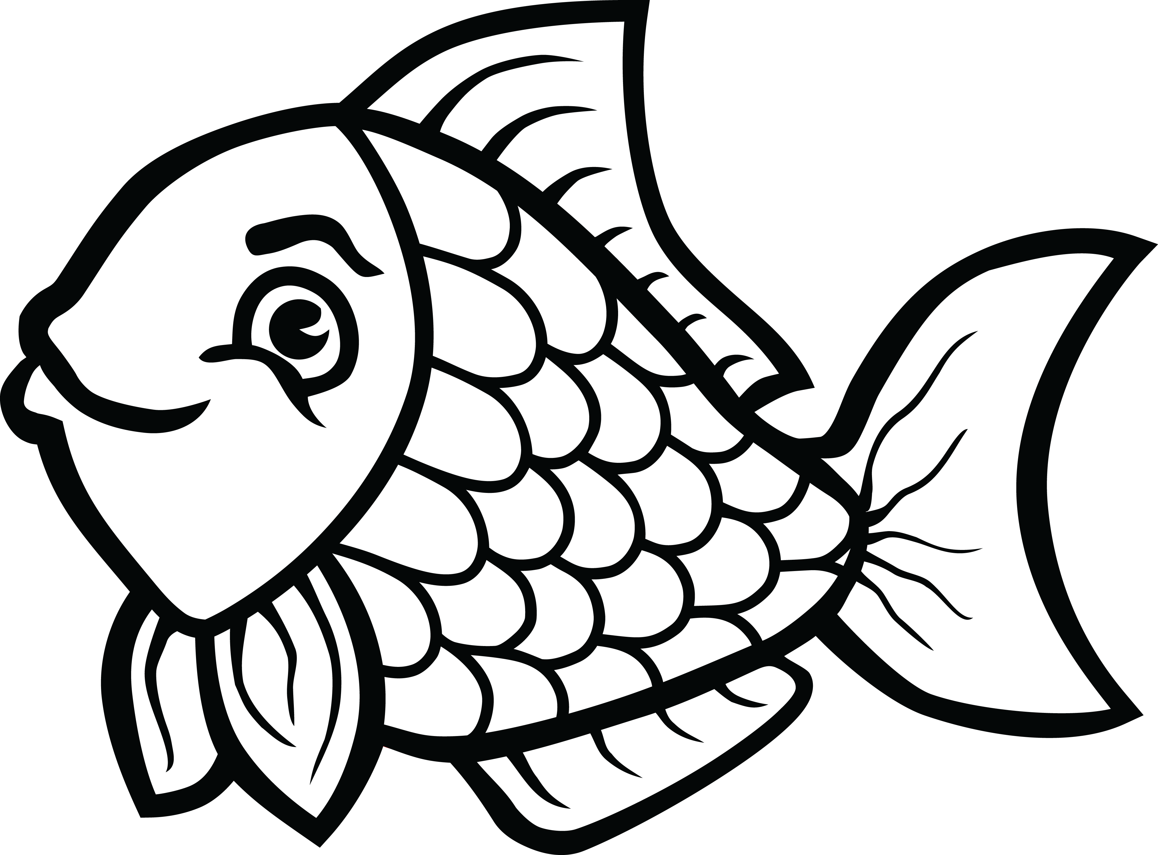 Fish Png Black And White Free Fish Black And White Png Transparent Images 2990 Pngio