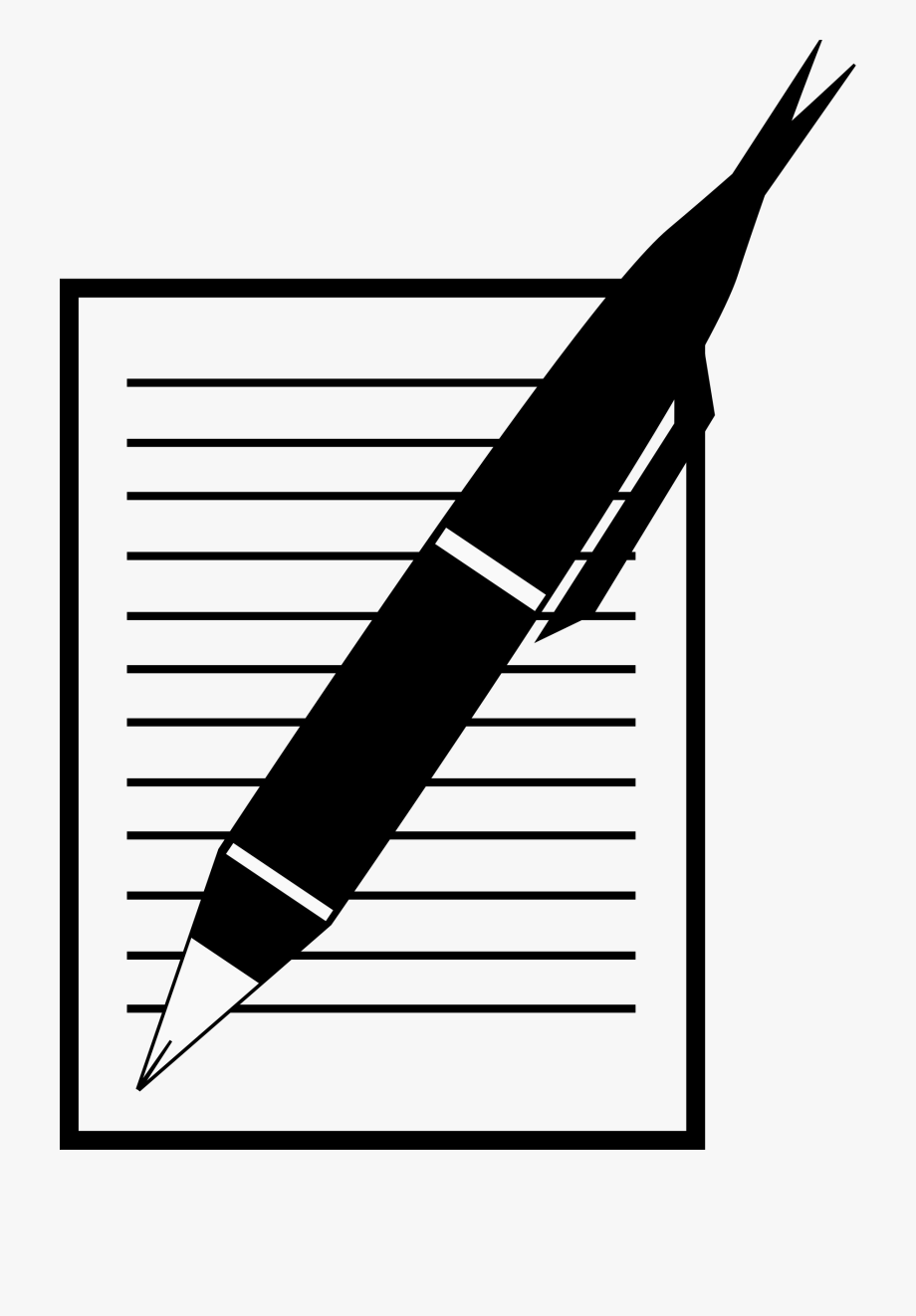 Pen And Paper Png - 28 Collection Of Pen And Paper Clipart Black And White - Pencil ...