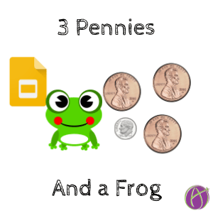 Frog Math Png - 3 lilipads and a frog 3 pennies and a dime math problem