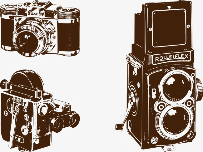 Camera Vintage Vector Png : 3 vintage camera film #81496 png images pngio