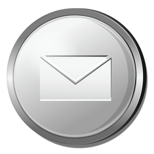 Silver 3d Circle Png - 3D email silver icon - Transparent PNG & SVG vector file