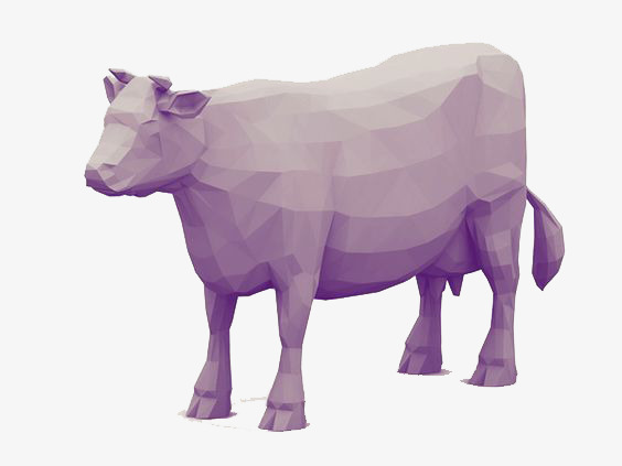 Purple Cow Png - 3d printing purple cow, Animal, Creative, Three Dimensional PNG and PSD