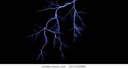 3D Thunder Light Effect Footage In Black #21315 - PNG Images