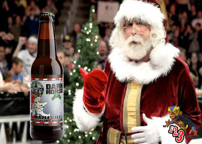 Santa Claus Wrestling Png - 4 Elf Winter Warmer Spiced Ale is a great choice this time of year.