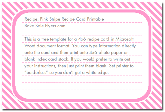 Recipe Card Template 4 X 6 Png - 44 The Best 4 X 6 Recipe Card Template For Word Download by 4 X 6 ...