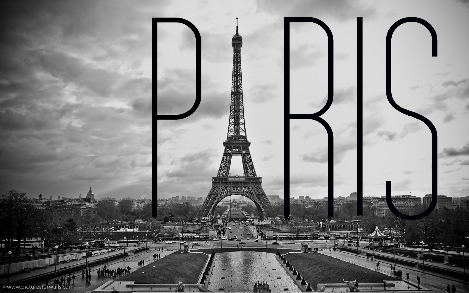 45 Black And White Paris Wallpapers D 935963 Png Images Pngio
