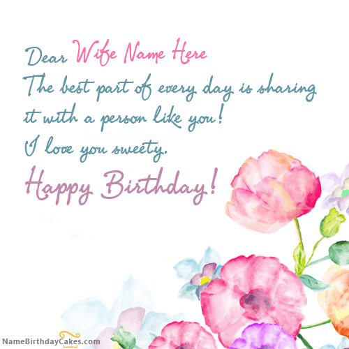 Wife Birthday Png - 50 Most Famous Birthday Quotes For Wife And Girlfriend | PICSMINE
