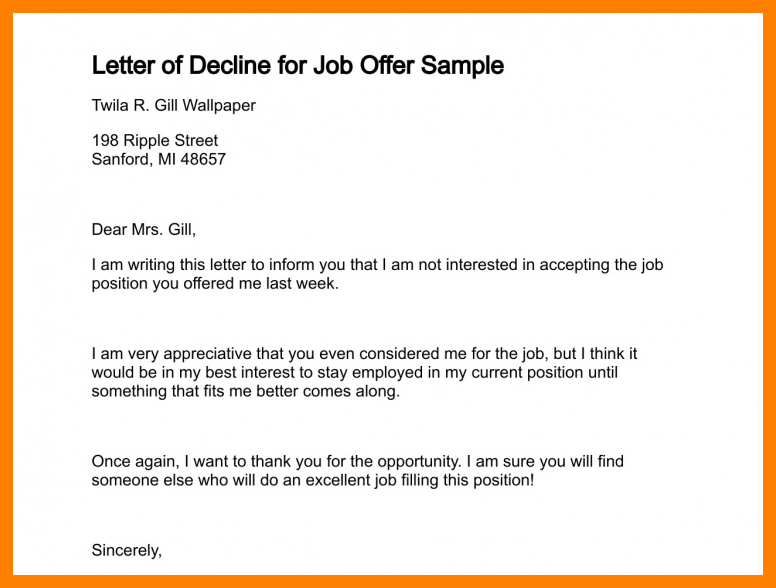 Letter To Decline A Job Offer from img.pngio.com