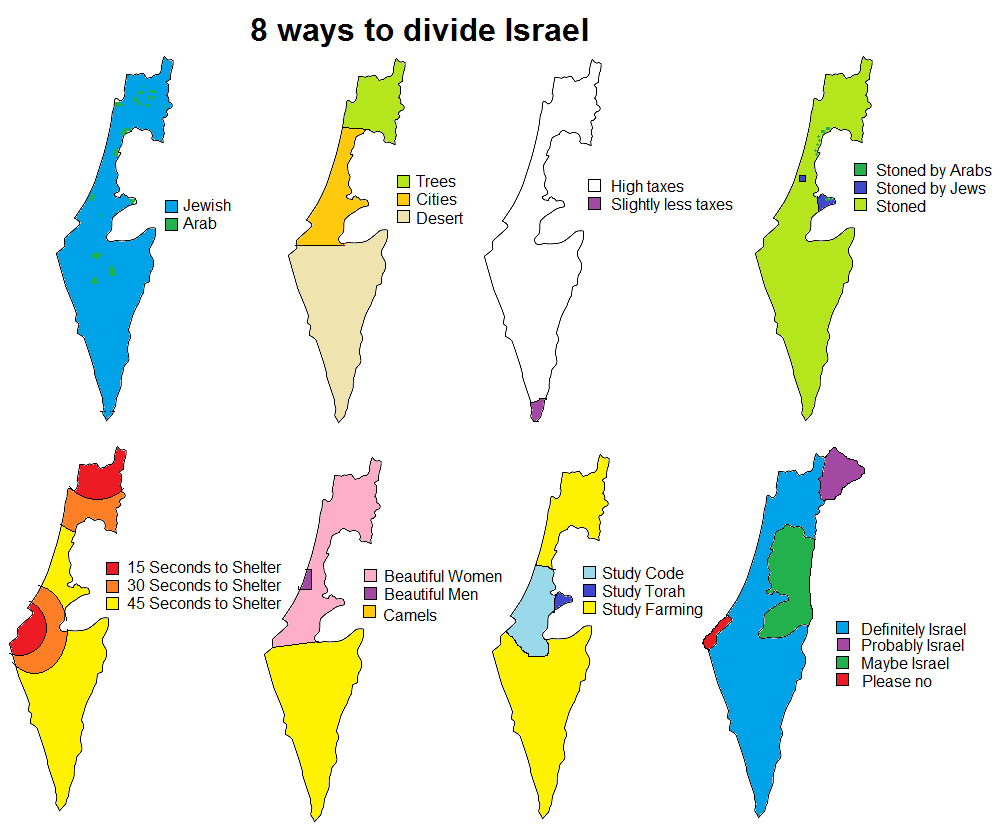 8 Ways To Divide Israel | Map | Map, Isr #391940 - PNG ...