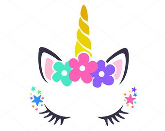Current image in unicorn face printable