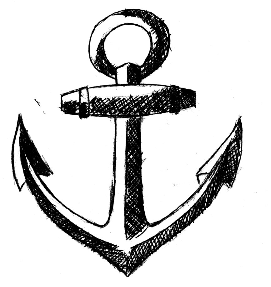 867x921 Anchor Tattoo 17928 Png Images Pngio