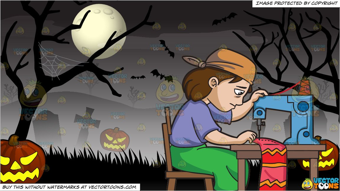 Skirt Png No Backgroun - A Factory Worker Sewing Scarf and Spooky Graveyard Halloween ...