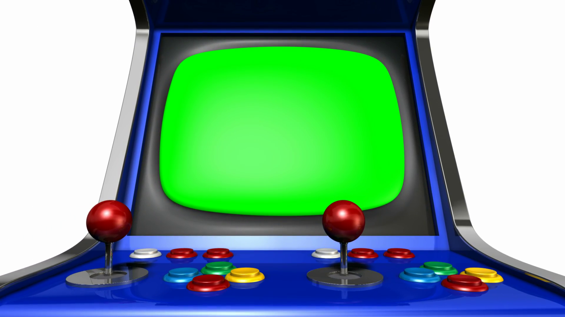 Some One Playing Video Game Png On Screen - A pan out from a vintage unbranded arcade game with a joystick and ...