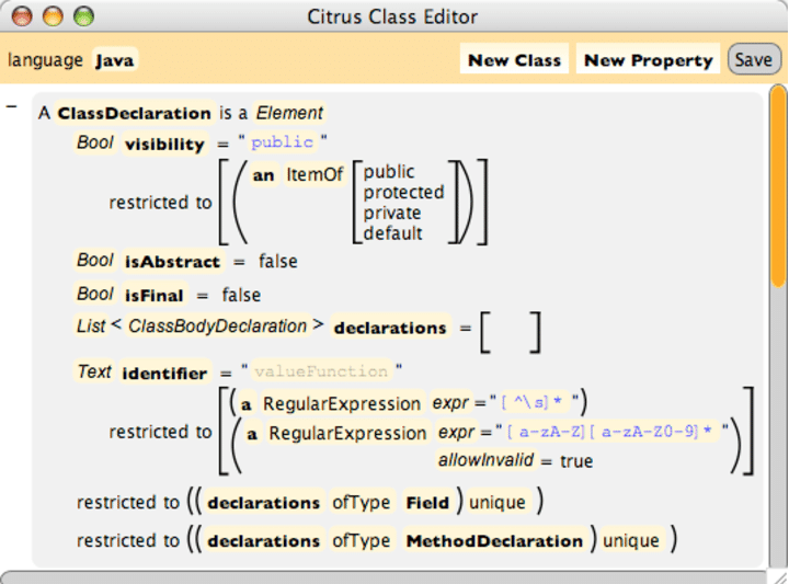 Programming Language Specification Png - A partial specification of the Java programming language's class ...