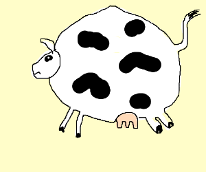 Fat Cow Png - a really fat cow