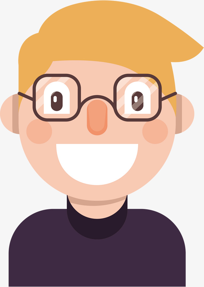 Png Boy With Glasses - A Smiling Boy With Glasses, Boy Vector, Glasses Vector, Vector Png ...