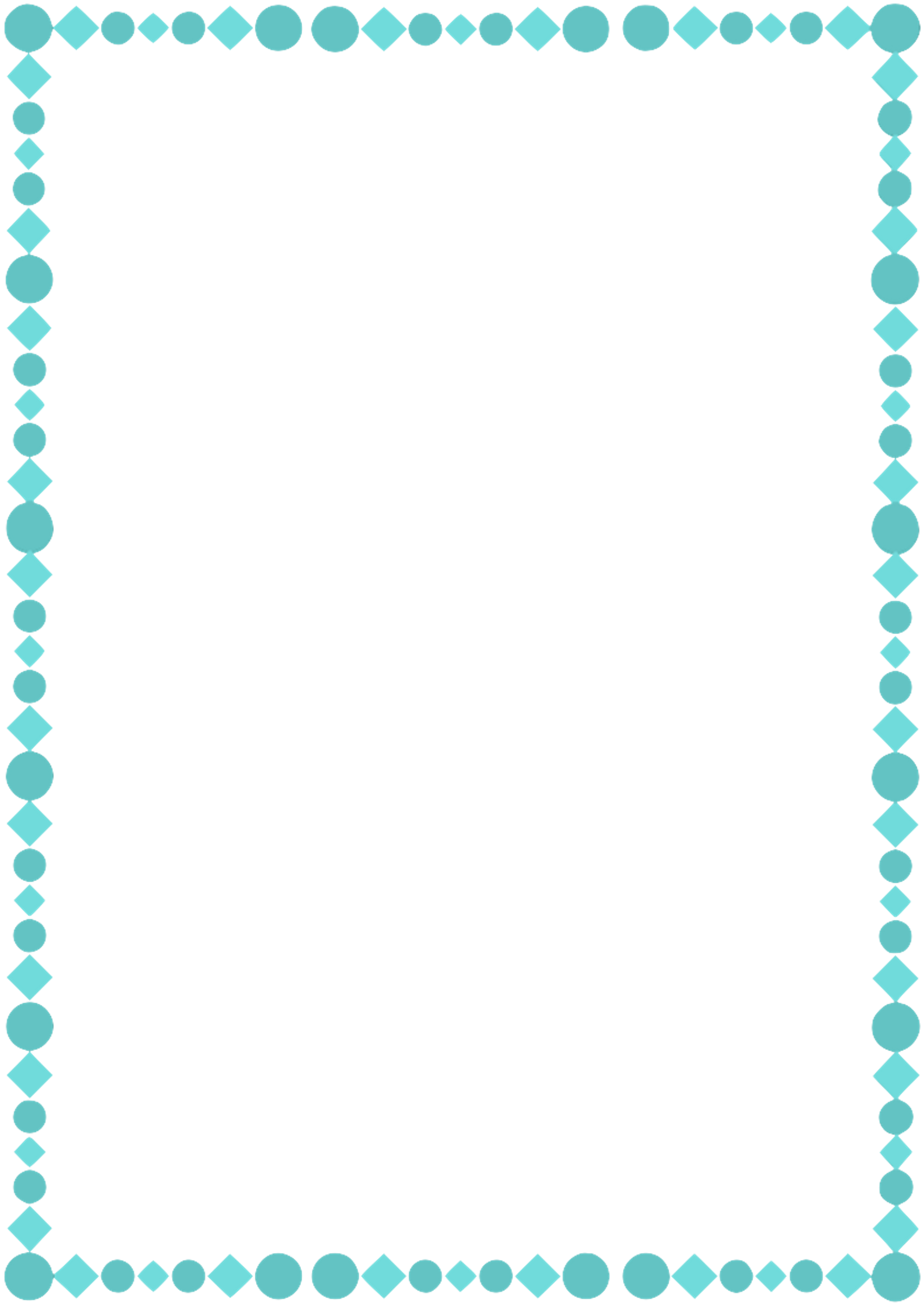 A4 Teal Page Border By Whimsinkal On Dev #267965 - PNG