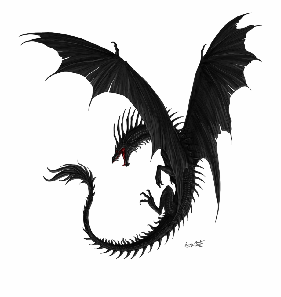 Black Dragon Png Hd - Aarok By Sunimo - Black Dragon Flying Png, Transparent Png ...
