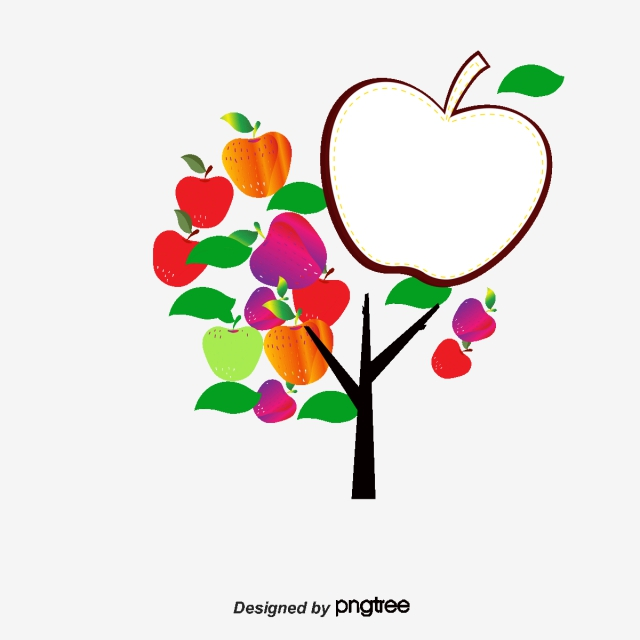 Apple Tree Png Free Use - Abstract Apple Tree Foliage, Tree Clipart, Illustration, Abstract ...
