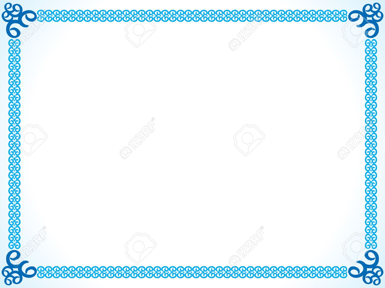 Abstract Artistic Blue Border Vector Ill 807709 Png