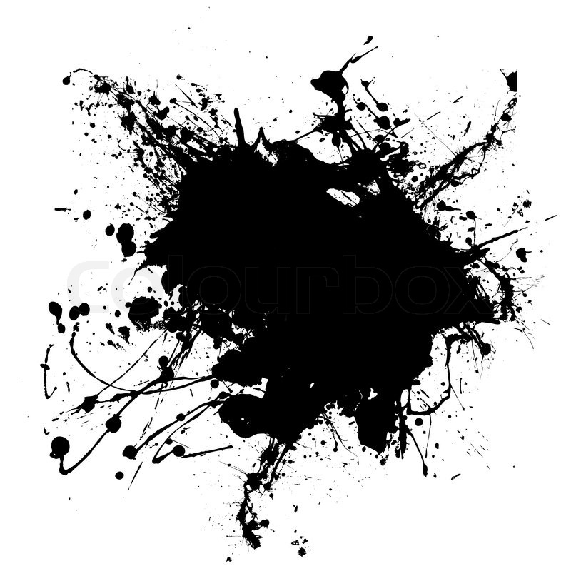 Abstract Black And White Ink Splodge 934972 Png