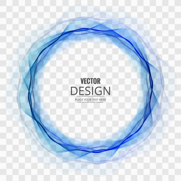 Abstract Blue Circle On Transparent Back 686481 Png