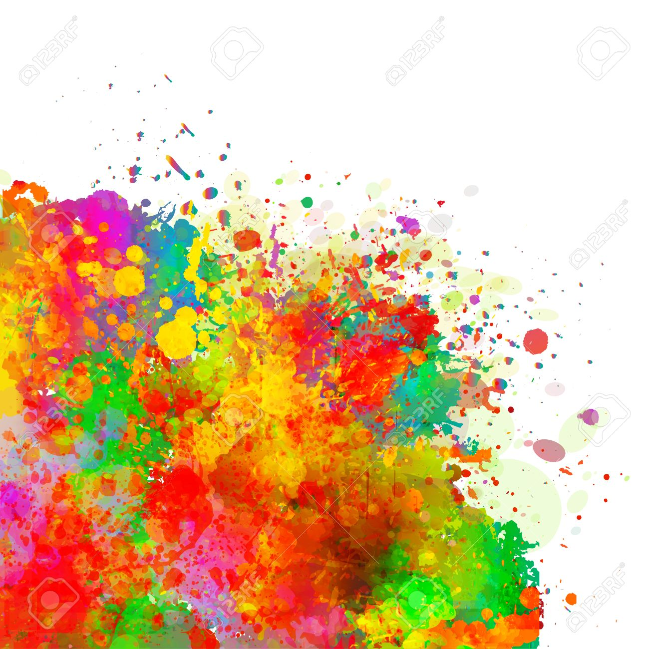 Watercolor Splash Background - Abstract Colorful Splash Background. Watercolor Background ...